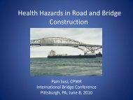Health Hazards in Road and Bridge Construction - National Work ...