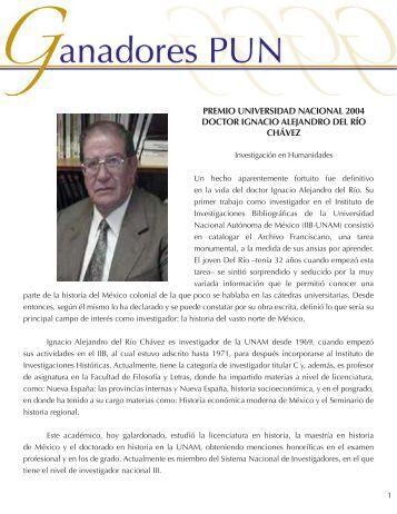 Dr. Ignacio A. del Río - dgapa unam