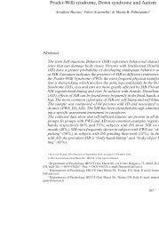 Self-injurious behavior: A comparison between Prader-Willi ...