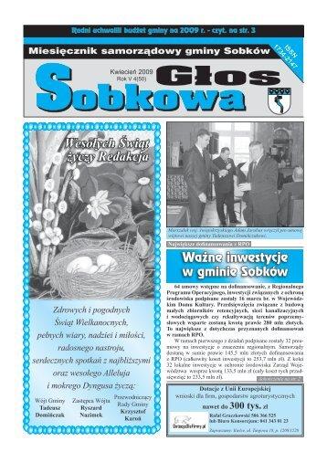 Wesołych Świąt życzy Redakcja - Urząd Gminy w Sobkowie