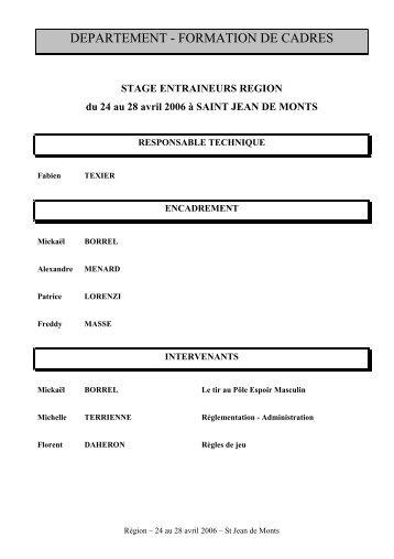 departement - formation de cadres - Ligue de basket-ball des Pays ...