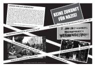 der Aufruf: no tddz - Antifaschistisches Café