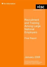 Recruitment and Training Among Large National Employers