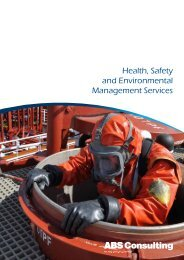 Health, Safety and Environmental Management ... - ABS Consulting