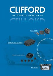 catalogus downloaden - CLIFFORD Electronics Benelux