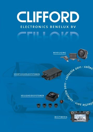 catalogus downloaden - CLIFFORD Electronics Benelux
