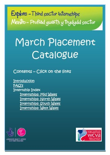 March Placement Catalogue - WCVA