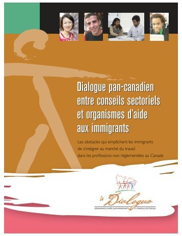 Dialogue pan-canadien entre conseils sectoriels et ... - ONESTEP