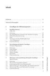 Selbstmanagement bei chronischen Erkrankungen im ... - Weltbild.de