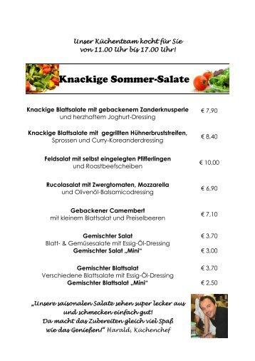 Speisekarte - Hotel Weisses Kreuz