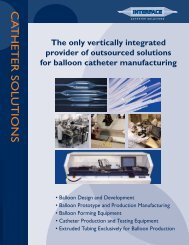 Interface Catheter Solutions