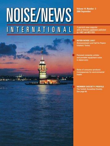 Volume 14, Number 3, September, 2006 - Noise News International