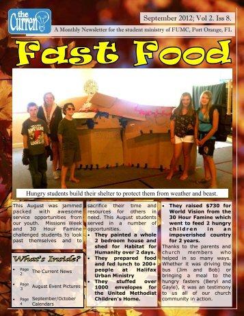 September 2012 - First United Methodist Church of Port Orange