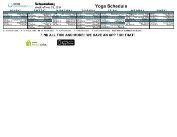 Yoga Schedule Schaumburg Life Time Fitness Scheduling