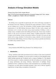 Analysis of Energy Simulation Models - University College Cork