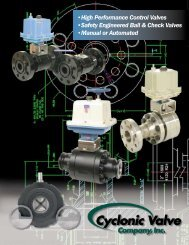•High Performance Control Valves •Safety Engineered Ball & Check ...