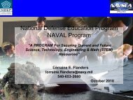 NAVSEA 21st Century Engagement, Education, and Technology ...