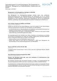 Beschreibung der Veranstaltungen - Hochschul-Informations ...