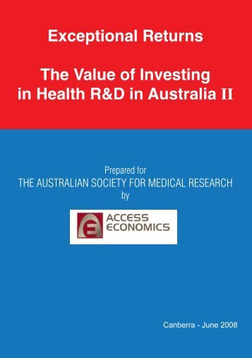 Exceptional Returns The Value of Investing in Health R&D in ...