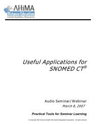 Useful Applications for SNOMED CT - American Health Information ...