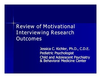 literature review of motivational interviewing 2 competency framework for motivational interviewing version 1 june 2012 background to the development of this tool motivational interviewing is an evidence-based counselling approach for facilitating health.