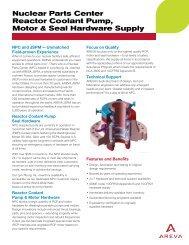 NPC Reactor Coolant Pump, Motor, Seal Hardware ... - AREVA NP Inc.