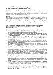 Kurzbericht von der Sitzung am 14. April 2011 - Lausitzer Braunkohle
