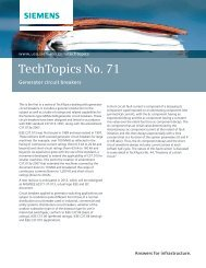 TechTopics No. 71 Generator circuit breakers - Siemens