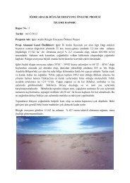 Iğdır Aralık Rüzgar Erozyonu Önleme Projesi İzleme Raporu için ...