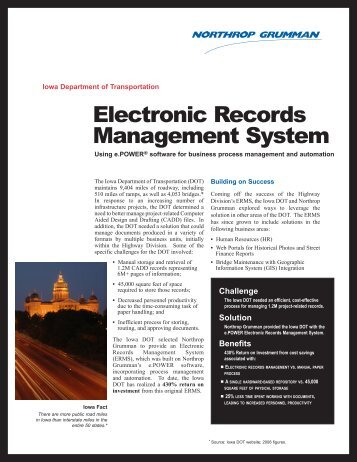 Electronic Records Management System - Northrop Grumman ...