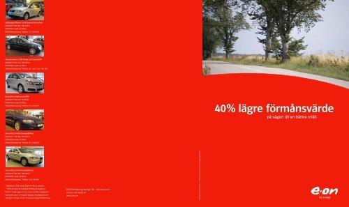 40 procent lägre förmånsvärde - E-on