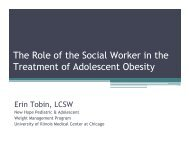 The Role of the Social Worker in the Treatment of Adolescent Obesity