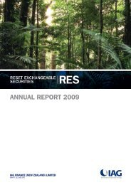 RES annual report 2009 - IAG