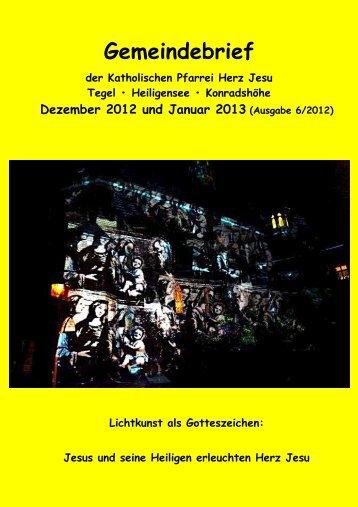 Gemeindebrief 12/2012-01/2013 - Katholische Kirchengemeinde ...