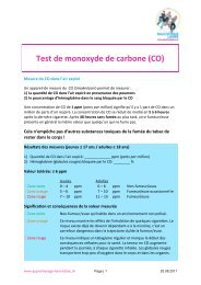 Explication du test de monoxyde de carbone (CO) - Rauchfreie Lehre