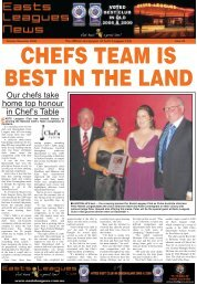 Our chefs take home top honour in Chef's Table - Easts Leagues Club