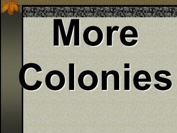 More Colonies