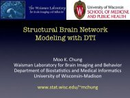 x - Waisman Laboratory for Brain Imaging and Behavior - University ...