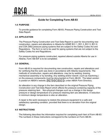 Application Form (AB 29) - ABSA