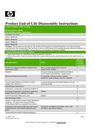 HP t610 Thin Client_Product End-of-Life Disassembly instructions