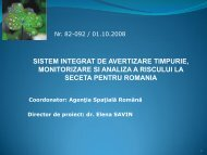 Sistem integrat de avertizare timpurie, monitorizare si analiza a