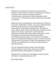 Historiikki - Suomen Lions-liitto ry