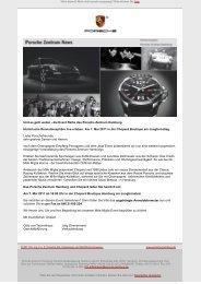 Einladung zum Mille Miglia Event von Porsche und Chopard
