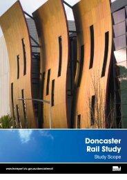 Doncaster Rail Study scope - Public Transport Victoria