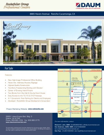 Project Brochure - Rockefeller Group Professional Centers