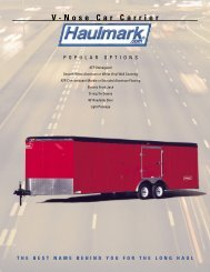 Specifications - Wess Gorman Trailer Sales