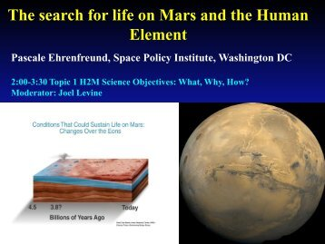 The search for life on Mars and the Human Element