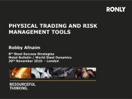 PHYSICAL TRADING AND RISK MANAGEMENT TOOLS