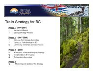 Trails Strategy for BC - Mountain Bike Tourism Association