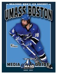 2010-11 UMass Boston Men's Ice Hockey Media Guide ... - Community